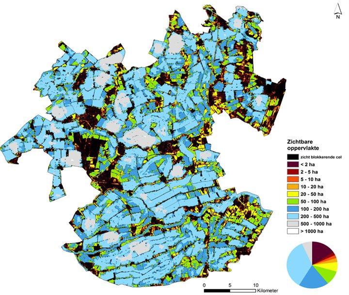 kaart zichtbaar oppervlakte